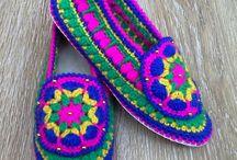 Pantofole uncinetto