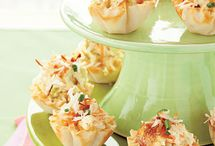 Noshes, Appetizers, Tidbits and Nibbles / Little nibbles and other small bites to be served as appetizers, tea time noshes, or snack attack remedies.