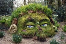 Spennende hagedesign fra nettet / Spennende bilder av hager, terrasser, belegningsstein osv..