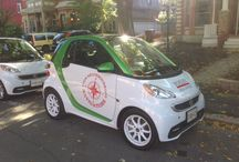 The Bosley Smart Cars / Look for us in your neighbourhood. We're green and we're fun.