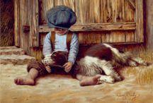 Imagens - Criança / Pintura, ilustração e arte decorativa