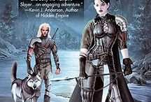 The Noble Dead Saga (English) / The chronological series (phases) and books about an unwilling dhampir (half-vampire), a half-elf ex-assassin, and a very large wolf, along with other major protagonists. All are drawn into a fate linked to a mythical war that eradicated their world's previous history a thousand years ago.