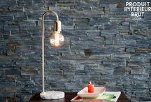 Dur comme de la pierre / Quelques meubles vintage ou de style scandinave comme des plateaux en pierre, quelques lampes, et des accessoires déco  faisant appel à la pierre dans leur conception.