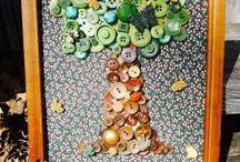 Button Art / recycled buttons