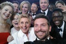 """Pulp of Ceremony / """"Entre les Césars et les Oscars il n'y a pas photo.""""   Désormais si !   Kev Adams a d'abord prit l'initiative de faire un selfie au théâtre du Chatêlet vendredi soir et dans la nuit de dimanche à lundi c'est au tour d'Ellen DeGeneres d'immortaliser les Oscars."""