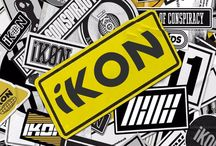 iKON / iKon (아이콘) consists of 7 members: B.I, Bobby, Jay, Ju-ne, Song, DK and Chan. iKon debuted on 15 September 2015, under YG Entertainment.  iKon Fandom Name: iKONIC iKon Official Light Stick Color: Orange-Red (it's orange when off and red-ish when on)