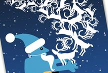 Seasonal greetings by Smaapigerne / Various seasonal greetings designed and/or illustrated by Smaapigerne. Xmas, easter, summer, Halloween and more (to come)
