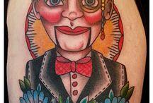 ventriloquist tattoo