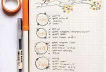 #bujo / bullet journal ideas