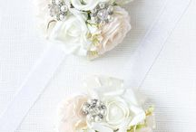 Wedding corsages and headsets