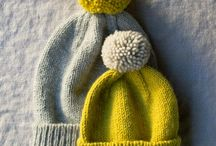 Knitted beanies etc.