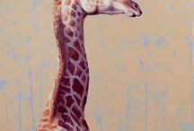 Giraffe paintings