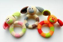 Sonajeros en crochet