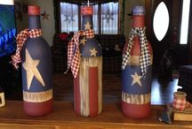 Wine bottle craft ideas / Wine bottle  / by Vanessa Olivo