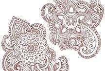 Henna, Doodles, Zentangle