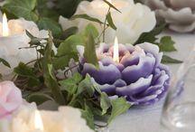 Velas florales y decoración