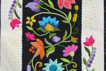 Flowers in quilts