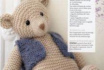 nounours et animaux au tricot