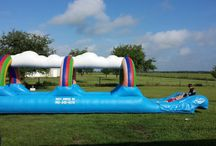Rainbow Party! / You don't have to spend a pot of gold to have a great time! This rainbow theme is a great idea for many ages and genders!  Our Rainbow Surf-a-Slide is a big hit at graduation parties too!  Call Party Jumpers in the Sarasota and Bradenton areas (941) 343-0370