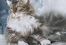 Рисование кошек