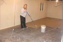 Painting basement / Painting basement