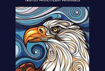 Swirl Spirits North American Animals coloring book