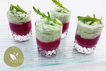 verrine de betteraves rougeet avocat