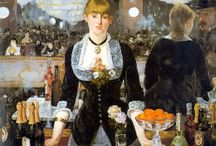 ÉDOUARD MANET / ÉDOUARD MANET (23 January 1832 – 30 April 1883) He was one of the first 19th-century artists to paint modern life, and a pivotal figure in the transition from Realism to Impressionism. His early masterworks, The Luncheon on the Grass (Le déjeuner sur l'herbe) and Olympia, both 1863, caused great controversy and served as rallying points for the young painters who would create Impressionism. Today, these are considered watershed paintings that mark the genesis of modern art.