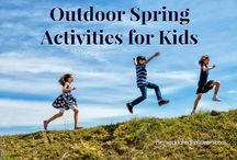 Spring Activites for Kids / Fun spring activities for kids including spring crafts, snack ideas, fun educational ideas, and outdoor games kids can enjoy in spring.