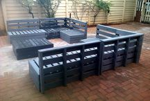 Warehouse Pallets / Pallets are cool for shipping things on but WOW they are so much cooler when recycled for home and garden.