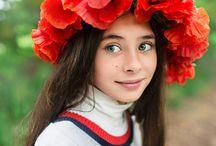 Poppies / My doughter Pauline, the spring photo session in a wreath of poppies