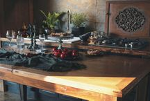 Kitchen Table, Tavolo da Cucina, Stół Kuchenny / Stół sosnowy, blat dębowy www.drewnoikamien.pl