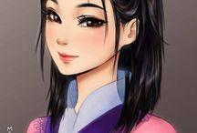 princesas da disney estilo manga