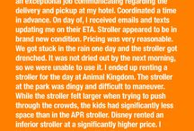 Amusement Park Rentals - Reviews / Every one of our customers is important to us.  And we're thrilled when they take the time to tell us they appreciate our service!  We'd love to be able to help with YOUR vacation rental needs as well - whether strollers, cribs, wheelchairs, scooters and more!  | Call Amusement Park Rentals at (407) 442-0000
