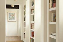 libreria, pareti in cartongesso