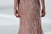 Rose gold evening/prom dress inspiration
