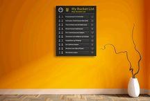 Airpart Art - Bucket List / Nieuw in onze collectie. Unieke muurdecoraties in de vorm van jouw eigen Bucket List. Uiteraard helemaal te customizen. Kijk snel in onze webshop: http://www.airpart.nl/airpart-art/airpart-art-bucket-list/