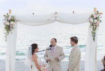 Beach wedding  / Vintage style beach reception. Sarasota Ritz Beach Members Beach Club, designed by Flowers by Fudgie