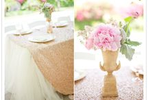 Gold Vintage Baby Shower / Elegant, sleek and simple
