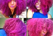 Pink Natural Hair / a part of our color me naturale series featuring pretty shades of pink colored natural hair.