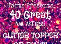 Crumpet Nail Tarts Presents - Glitter topper or Flakie / Crumpet Nail Tarts Presents 40 Great Nail Art Ideas #40gnai
