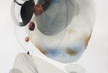 Abstract aquarel