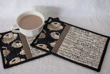 Adicted to sewing - mug rugs, pot holders, coasters, place mats, oven mittens, oven gloves etc. / Visit my others boards about sewing: adicted to sewing.