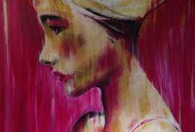 Pink Lady / Acryl 60x80cm