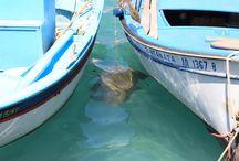 El color del mar griego / Todos los azules y algún color más en el mar Egeo. Grecoterapia
