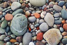 stone letters / #pebbles and #stones - archaic & cultivated   / by Hank Marut