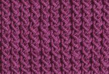 Knitting rib patterns