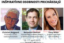 Big Ideas for CEE / Fórum najväčších svetových spíkrov a elity európskeho biznisu v Bratislave