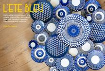 Lete Bleus: The Beauty of a Blue Palette Using Hermes and Puiforcat / by MONC XIII