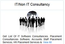 IT/Non IT Consultancy / Get List Of IT Software Consultancies, Placement Consultancies Software, Accounts Staff Placement Services, HR Placement Services